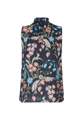 Printed High Neck Top by Peter Pilotto