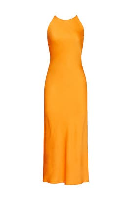 Cross Back Bias Slip Dress by Rosetta Getty