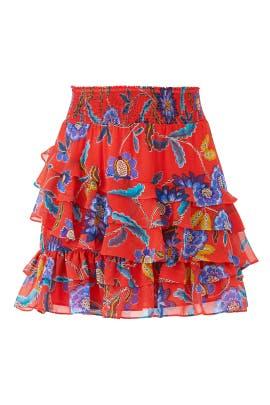 cd12eb6250 Rebecca Minkoff Red Floral Lila Skirt