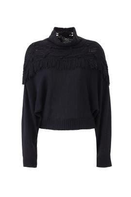Andie Fringed Sweater by Rachel Zoe