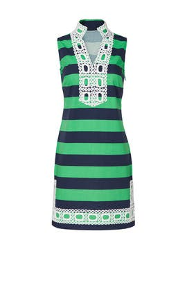 Green Sleeveless Striped Dress by Sail to Sable