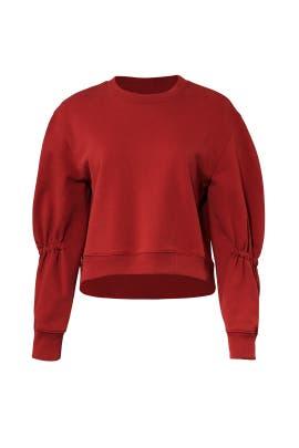 Sculpted Sleeve Sweatshirt by Tibi