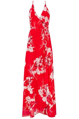 Red Rush Hour Maxi by Yumi Kim