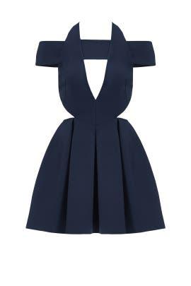 Navy Cutout Dress by AQ/AQ