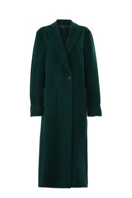 Green Oversize Coat by Christian Pellizzari