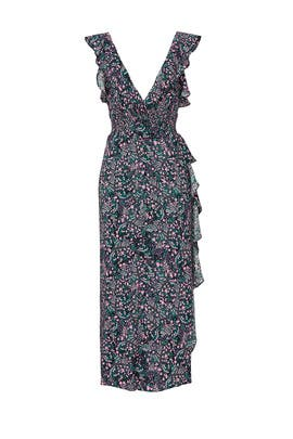 Black Floral Print Dress by Iro