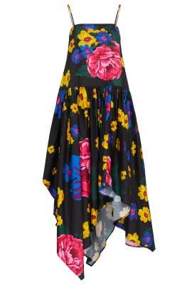 Floral Gathered Waist Dress by Marques' Almeida