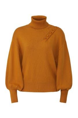 Button Shoulder Turtleneck Sweater by Marissa Webb Collective