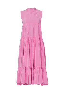 Pink Tie Neck Dress by Rochas