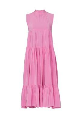 Pink Tie Neck Dress by Rochas