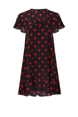Heart Printed Shift by RED Valentino