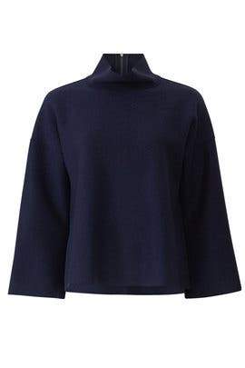 Navy Wide Sleeve Sweater by Tara Jarmon