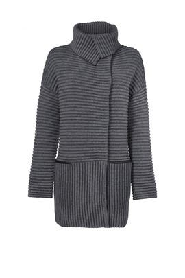 Grey Exaggerated Sweater Coat by Bailey 44