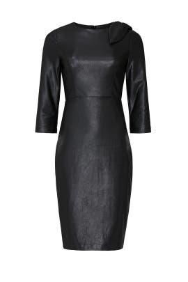 Black Faux Leather Sheath by Badgley Mischka
