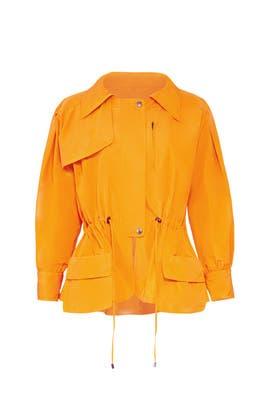 Orange Anorak Jacket by Jil Sander Navy