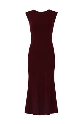 Burgundy Sleeveless Dress by Jason Wu