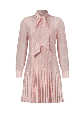 Pink Pleated Georgette Dress by kate spade new york