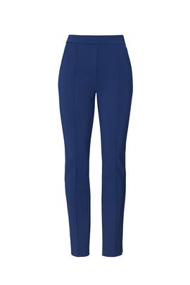 Blue Crop Stretch Pants by La Petite Robe di Chiara Boni