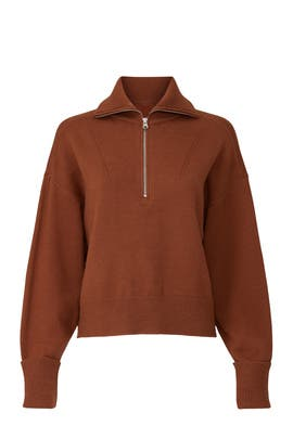 Rust Zip Up Sweater by Marissa Webb Collective