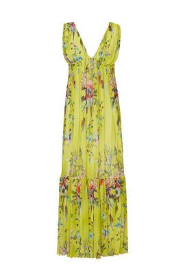 Floral Pleated Maxi by Fuzzi