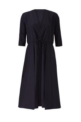 Woven Drawstring Dress by Jil Sander Navy