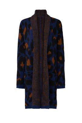 Blue Leopard Cardigan by Joe's Jeans