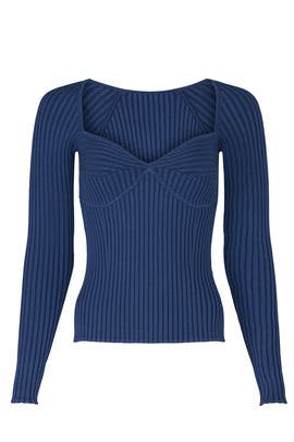 Sammy Ribbed Bustier Sweater by Jonathan Simkhai