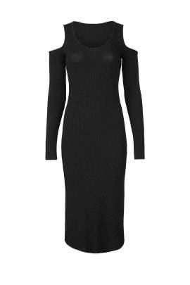 Black Ribbed Dress by MONROW