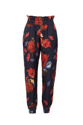 Floral Joggers by Mother of Pearl