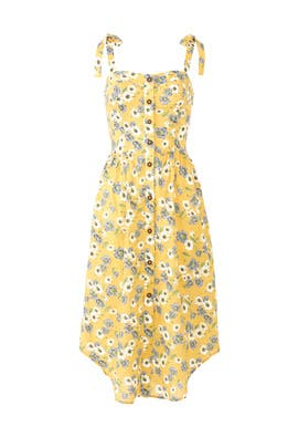 Button Down Strap Tie Dress by Moon River