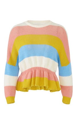 Pastel Striped Sweater by RED Valentino