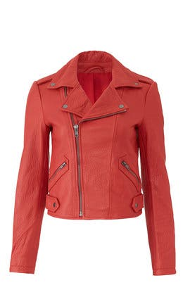 Red Wolf Leather Jacket by Rebecca Minkoff