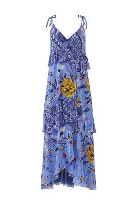 Lavender Patchwork Wrap Dress by Fuzzi