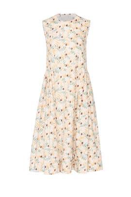 Peach Printed Midi Dress by Marni