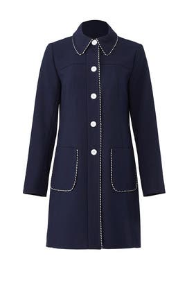 Blue Trench Coat by Shoshanna