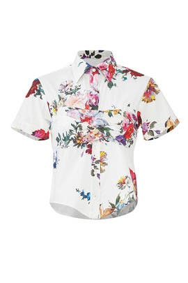 Floral Tie Back Shirt by Tome
