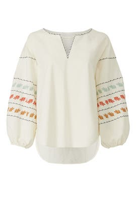 Embroidered Puff Sleeve Top by Madewell