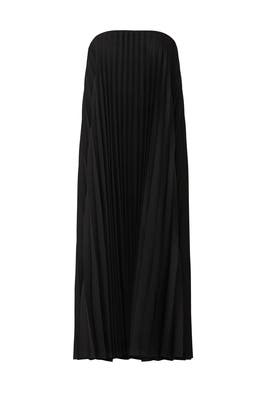 Pleated Strapless Dress by Mossi