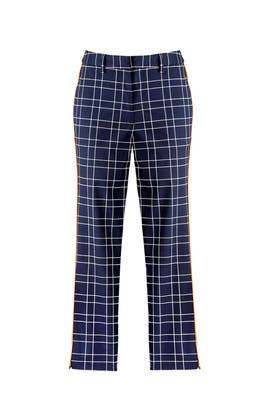 Navy Plaid Trousers by Slate & Willow