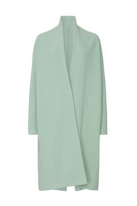 Mint Collarless Long Coat by VINCE.