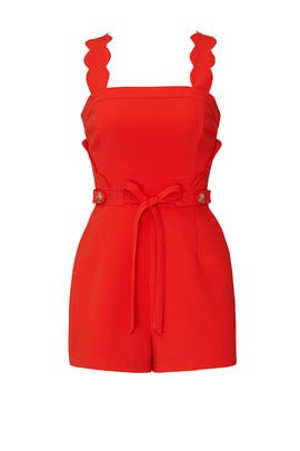 Lenora Scallop Romper by Adelyn Rae