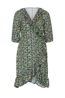 Floral Ruffle Wrap Dress by Jason Wu x ELOQUII