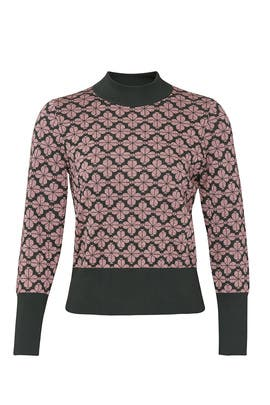 Floral Spade Turtleneck by kate spade new york
