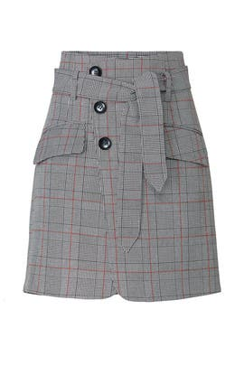 Grey Plaid Skirt by Marissa Webb Collective