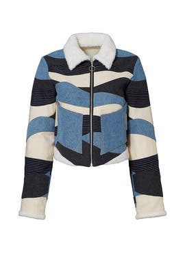 Landscape Quilted Patchwork Jacket by Opening Ceremony
