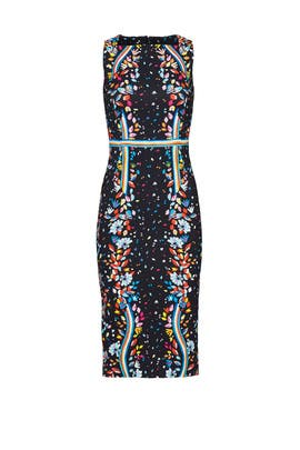 Black Rainbow Floral Dress by Peter Pilotto