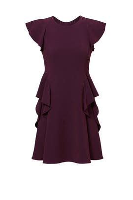 Bordeaux Ruffle Dress by Rebecca Taylor