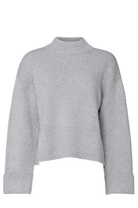 Oversized Mock Neck Sweater by Victor Alfaro Collective