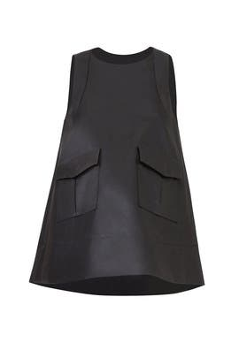 Sleek Black Pocket Top by Carven