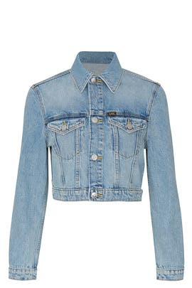 Cropped Trucker Denim Jacket by LEE